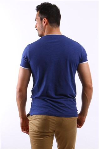 Spr 963 A. Blue-white Men's T-shirt