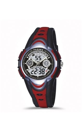 Teen's Ρολόι  Pasnew Black/Red PSE351-N2