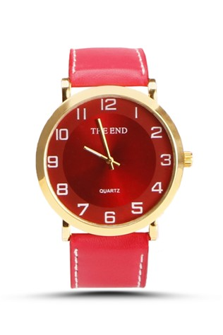 The End  Red Unisex watch