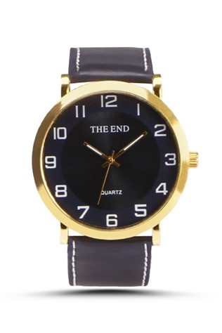 The End   Dark blue Unisex watch