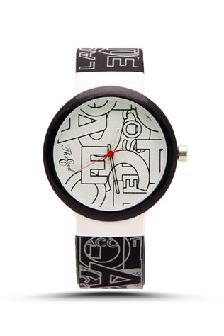The End 113 Μαύρα & white Lady's watch