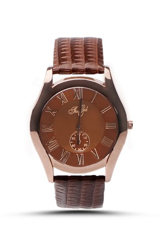 The End 126 Brown man's watch