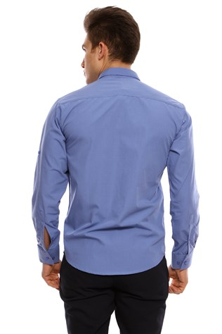 Twn Campus Men's Blue Shirt  3fk021010402