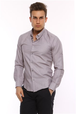 Twn Campus Men's Grey Shirt 3fk021010406