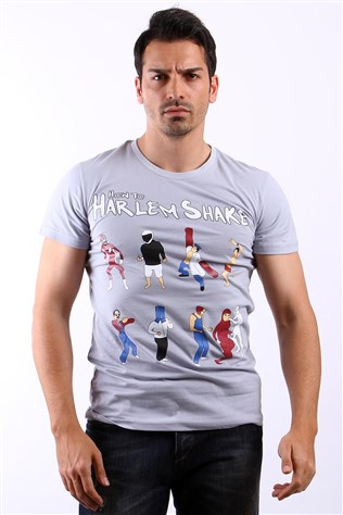 Ukyo How To Harlem Shake B0038 Grey Men's T-shirt
