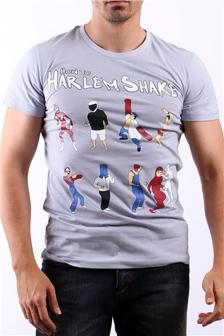 Ukyo How To  Harlem Shake B0038 Γκρι άνδρες T-shirt