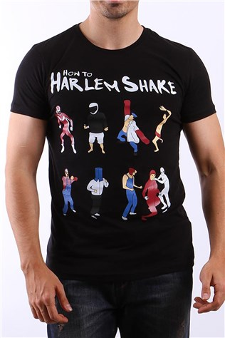 Ukyo How To Harlem Shake B0038 Black Men's T-shirt