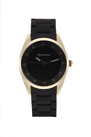 Vermonth Vr913-gb Black-gold watch