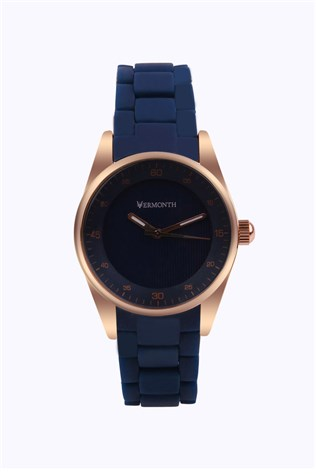 Vermonth Vr913-rbe Dark blue lady's watch
