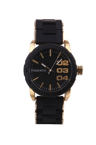 Vermonth Vr915-gb Μαύρα-gold watch