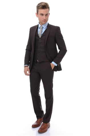 Wessi Tk-62110-14-50 Men's Καφέ Suited