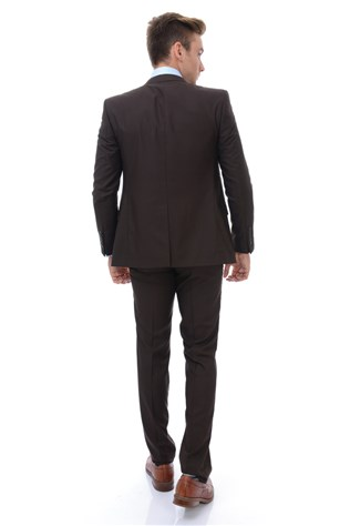 Wessi Tk-62110-14-50 Men's Brown Suited