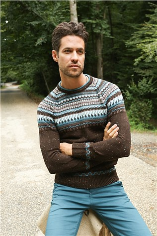 Wipeout Wpt1015K800703 Men's hnedá Sweater