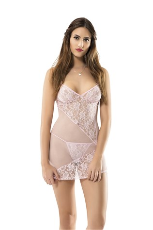 Women's erotic underwear 4047 Light Pink