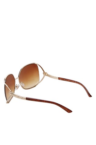Y London YLII 001 Gold & Brown Sunglasses